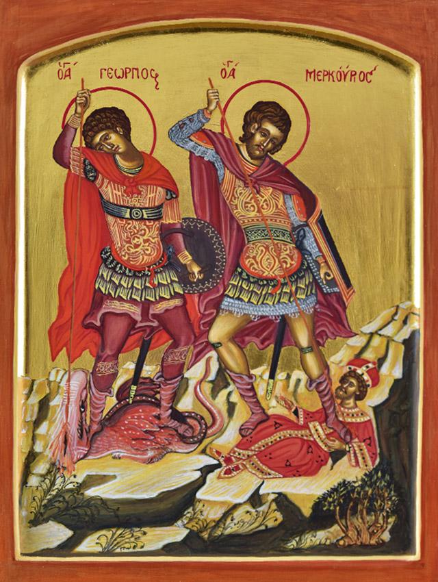Saint George and Saint Merkourios