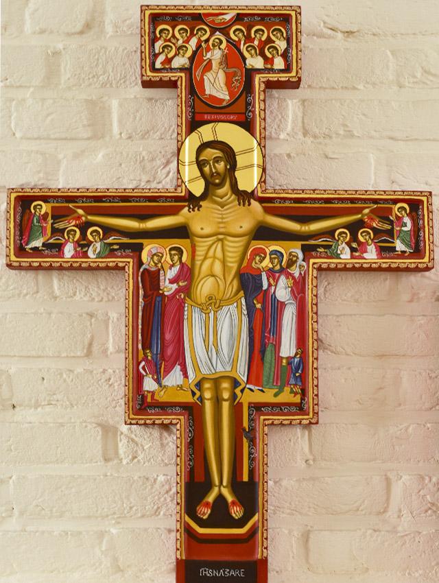 32-Christ-ljiljana-stojkovic-icon-The-San-Damiano-Cross