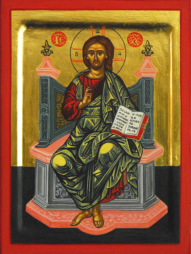 38-Christ-ljiljana-stojkovic-Christ-Pantocrator-on-the-Throne