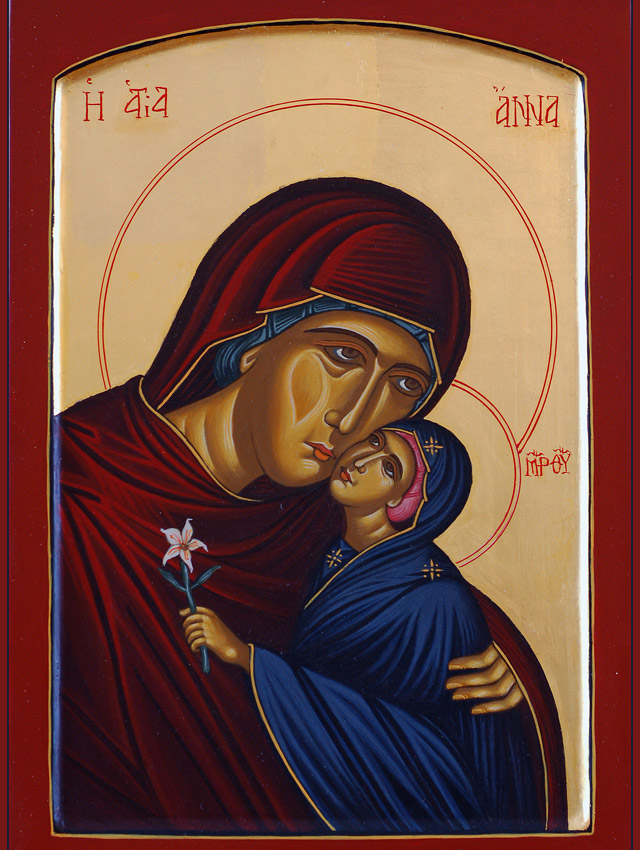 Mother of God with her Mother Anna